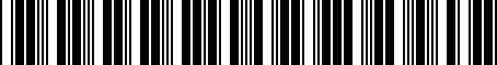 Barcode for 4G0052133K