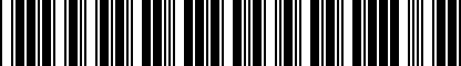 Barcode for 8X0051443