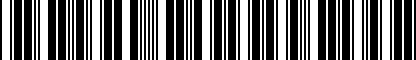 Barcode for ZAW098801